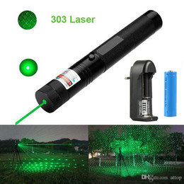 $enCountryForm.capitalKeyWord Australia - Hot Best 303 Green Laser Pointer Pen 532nm 1mw Adjustable Focus & Battery + Charger EU Adapter Set Free Shipping