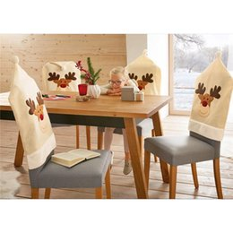 dining tables cover 2019 - lycra dining Computer Christmas chair cover Home textiles office chair covers Dinner Table Party Decor For Christmas che