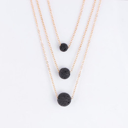 $enCountryForm.capitalKeyWord UK - Black Lava Stone Necklaces Women Luxury Jewelry Vintage Multilayer Chain Necklace Essential Oil Diffuser Rock Bead Pendant Chokers Necklaces