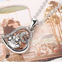 top indian girls NZ - Top Quality New Fashion Brand Jewelry with Crystals From Austrian Heart Charm Pendant Necklace For Women Girls Party Wedding Bijoux Gift