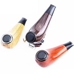 Free vapor pipe online shopping - New Original Kamry Turbo K Wooden E Cig Pipe Mod Vapor Starter Kit ohm mAh Variable Voltage Long Stem Epipe DHL Free