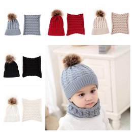 Kind-Hearted 2 Pcs Mother Kids Child Baby Warm Winter Knit Beanie Fur Pom Hat Crochet Ski Cap Cute 5 Colors Girl's Hats