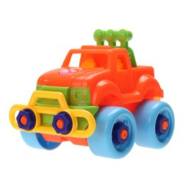 model vehicle kits NZ - toy vehicle Plastic Baby Cars Model Building Kits Kids Detachable Assembly Cars Truck Toys Children Handwork Training Toy Vehicles Assemble