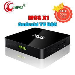 android smart tv box dhl NZ - M9S X1 Android 6.0 TV BOX Smart Mini PC Amlogic S905X Quad Core H.265 Media Player 2.4GHz Wifi HDMI 2.0A Game 1080P DHL Free 5 PCS