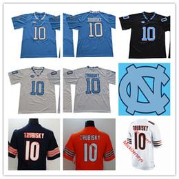 16fc559fb Mens NCAA North Carolina Tar Heels Mitchell Trubisky College Football  Jersey Stitched #10 Mitchell Trubisky Chicago Jersey S-3XL