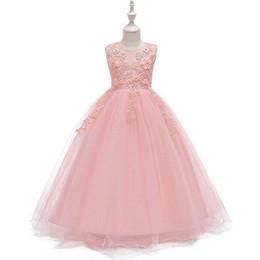 7c01bed25 4-14T Vestido de niña adolescente de verano sin mangas de baile fiesta de  noche vestido del desfile de la princesa boda vestido de los niños ropa
