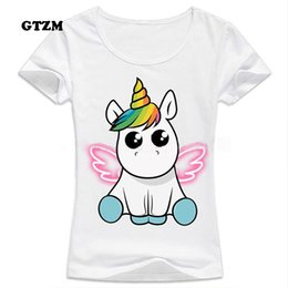 Unicorn Shirts Australia - GTZM 2018 Slim Funny Unicorn T shirt Women Tops Kawaii Unicornio T-shirt Female Summer Top Tshirt licorne Sexy Tees