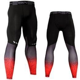 Tight Plus Sized Leggings Australia - Men's Tights Compression Elastic Leggings Sport Pants Men Gym Jogging Sweat Pants Fitness Trousers Sportswear Plus Size 3XL