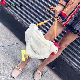 ChiCken handbag online shopping - Women Ladies Cute Chicken Mini Chain Bag Shoulder Crossbody Bag Tote Handbag Messenger Luxury Handbags Women Bags
