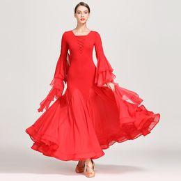 $enCountryForm.capitalKeyWord Australia - New Ballroom Competition Dance Dress Chiffon Long Sleeve Standard Ballroom Dance Dresses Waltz Dancing Skirt Dancewear DQS2172