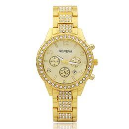 $enCountryForm.capitalKeyWord UK - New Geneva three-eye calendar with diamond-wrist watch Fashion ladies quartz watch