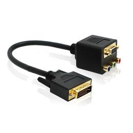 $enCountryForm.capitalKeyWord Australia - Multifunctional DVI-I to VGA DVI 24+5 Male to VGA RCA RGB AV Connection Female Splitter Cable