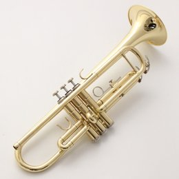 Trumpet New Bach Bb Trumpet Lt180s-43 Silver Plated Gold Keys Music Instruments Profesional Trumpets Student Case Mouthpiece Accessories