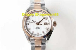 $enCountryForm.capitalKeyWord Australia - 3S Top Luxury Watch Swiss 8520 Automatic Sapphire Crystal RoseGold Silver Case Steel Bracelet transparent case back Ladies Watch
