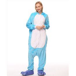 elephant cosplay Australia - Adult Kigurumi Onesie Anime Women Costume Elephant Halloween Cosplay Cartoon Animal Sleepwear Winter Warm Flannel Hooded Pajama