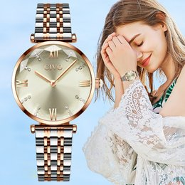 Wrist Watches For Women Australia - CIVO Women Watches Luxury Waterproof Wrist Watches Top Brand Steel Strap Crystal Quartz Wirst Watch For Women Clock Reloj Mujer