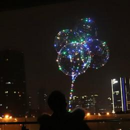 $enCountryForm.capitalKeyWord Australia - S Led Light Up Fashion transparent Bobo ball LED Air Balloon lights luminous Christmas decoration party celebration fairy lights