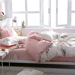 $enCountryForm.capitalKeyWord Australia - HOME Cartoon Elephant Bedspread Lovely Bedding Set Fitted Sheet Elastic Pillowcase Double Duvet Cover Nordic Home Textiles 47