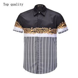 $enCountryForm.capitalKeyWord Australia - wholesale new design 3d printed custom men beach wear stripe hawaiian men tops casual business fashion men's short sleeve shirts