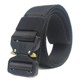 $enCountryForm.capitalKeyWord Australia - Unisex Nylon belt Metal insert buckle nylon Training belt Army tactical belts for Men Best quality male strap