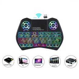$enCountryForm.capitalKeyWord Australia - Mini Keyboard I9 Plus Colorful Backlight Air Mouse With Touchpad Remote Control Work For Android TV BOX TV Mini PC Projector X96 DHL free