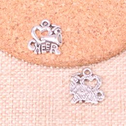$enCountryForm.capitalKeyWord Australia - 67pcs Antique Silver Plated cheer love cheerleading Charms Pendants fit Making Bracelet Necklace Jewelry Findings Jewelry Diy Craft 17*16mm