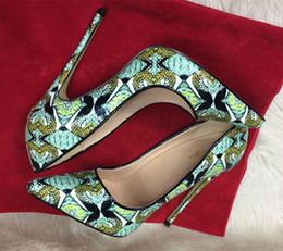 $enCountryForm.capitalKeyWord Australia - Hot Sale-12cm 10cm 8cm So kate Mary Jane Wedding Party Shoes Snakeskin Leather Ladies Pumps