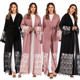 Qatar dresses online shopping - Abayas For Women Bangladesh Mesh Sequined Muslim Hijab Dress Jilbab Kaftan Abaya Turkey Robe Dubai Qatar UAE Islamic Clothing