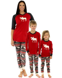 boys matching christmas outfits Australia - 20pcs Family Christmas Pajamas Set Warm Adult Kids Girls Boy Mommy Sleepwear Nightwear Mother Daughter Clothes Matching Family Outfits