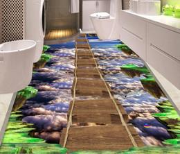 $enCountryForm.capitalKeyWord NZ - Custom Photo Wallpaper Seaside stone pier bridge 3D floor Mural PVC Waterproof Restaurant Kitchen Floor Sticker 3D