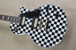 Guitars factory online shopping - Factory custom new listing black white pattern electric guitar