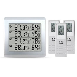 $enCountryForm.capitalKeyWord Australia - Freeshipping Weather Station Thermometer C F Value Display Alarm Temperature Meter Station Tester With 3 Outdoor Indoor Wireless Senor