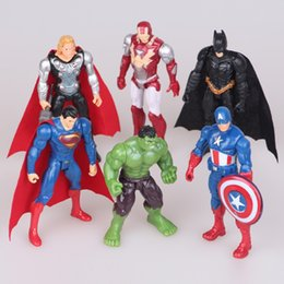 $enCountryForm.capitalKeyWord Canada - Anime action figure The Avengers figures super hero toy doll baby hulk Captain America thor Iron man 6pcs set Kid boy birthday gift