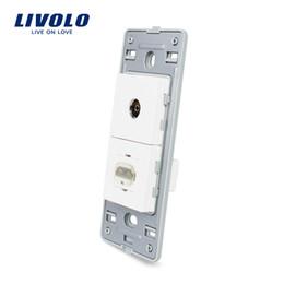 Function Connectors Australia - Livolo US Standard DIY Parts Plastic Materials Function Key, TV & HDMI Socket Base,Suitable for TV and HD