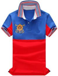 Cotton Express Australia - Express 2019 Men's Polo Shirts Middle Striped Big Pony Embroidery Short Sleeve Sports Polos Cotton Polo Shirt Tees Free Shipping