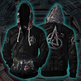 cosplay tattoo UK - 2019 Avengers Tattoo Endgame Quantum Realm Cosplay Hoodie 3d Printed Unisex Fashion Costume Superhero Zipper Sweatshirt Jacket C19041801