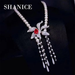$enCountryForm.capitalKeyWord Australia - SHANICE 3 colrors Flower DIY Jewelry Findings Micro Pave Zircon Multi-Function Clasp Tassel Pendant Connector For Pearl Necklace