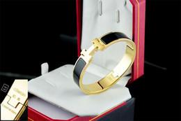 Metal Love Letters Australia - 2019 Celebrity design Letter Metal Buckle bracelet Fashion Metal Clover Cuff bracelet Gold Jewelry With Box