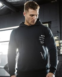 New Wardrobe Australia - 2019 gym New Fashion Autumn New European and American Men's Hats, Covers, Sanitary Wardrobes and Sports Fitness gym Sweater
