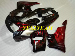 $enCountryForm.capitalKeyWord Australia - Custom Motorcycle Fairing body kit for Honda CBR900RR 893 96 97 CBR 900RR CBR900 RR 1996 1997 Red flames Fairings bodywork+Gifts HX39