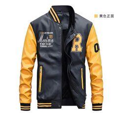 $enCountryForm.capitalKeyWord Australia - Leather jacket for men autumn 2019 new Korean slim men motorcycle PU leather jacket fashion coat men's fashion jacket size M-4XL