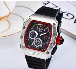 $enCountryForm.capitalKeyWord Canada - Fashion Skeleton Watches Men Luxury Outdoor Sports Rubber Watch Men's Quartzl Movement Wrist Watch Free Shipping