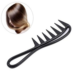 $enCountryForm.capitalKeyWord Australia - Black Wide Tooth Shark Comb Detangler Curly Hair Salon Hairdressing Comb Massage For Hair Styling Tool
