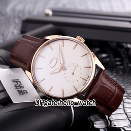 cheap white roses Australia - Cheap New Tonda 1950 PFC267-1002400-HA1241 White Dial Automatic Mens Watch Rose Gold Case Brown Leather Strap Gents Watches hello_watch