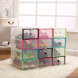 $enCountryForm.capitalKeyWord Australia - DIY Multifunction Plastic Shoe Box Transparent Storage Shoebox Household Storage Box Eco-Friendly Shoes Organizer