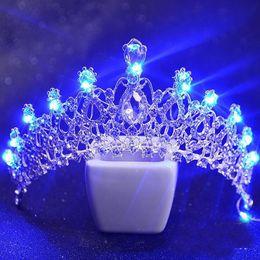 $enCountryForm.capitalKeyWord Australia - 5 Colors Women Wedding Tiara With Light Crystal Luminous Crown Bride Light Tiaras Girls Pageant Party Glowing Crowns Tiaras H113 J 190430