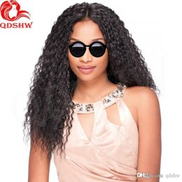 kinky curly upart wigs UK - Kinky Curly Upart Wig For African American Pre Plucked Glueless Virgin Human Hair Mongolian Kinky Curly U Part Wigs With Baby Hair