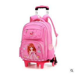 kid student backpack UK - School Bag Wheels For Girls Wheeled Backpacks Student Backpack On Wheels Children Rolling Backpack For Kids Travel Trolley Bags