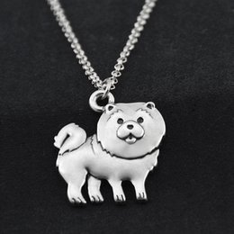 $enCountryForm.capitalKeyWord Australia - Unique Boho Vintage Stainless Steel Long Chain Cute Chow Chow Necklace Women Pendant Puppy Pet Jewelry Dog Lover Best Friend Gift Idea