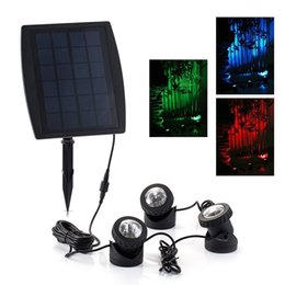$enCountryForm.capitalKeyWord NZ - Solar Power 18 RGB LED Underwater Spotlight Light Garden Swimming Pool Pond Fishing Tank View Night Lamp